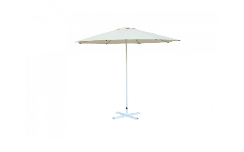 Зонт для кафе круглый 2,5 м (8) ал.