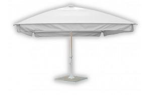 Зонт для кафе квадратный телескопический 4 метра белый