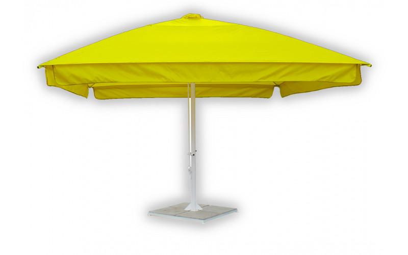 Пляжный зонт 4х4 телескопический квадратный
